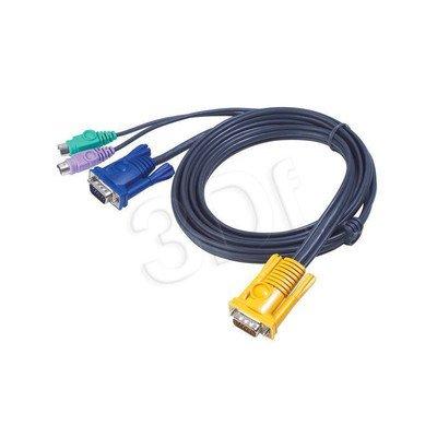 ATEN 2L-5202P Kabel HD15 - SVGA + myszPS + klawPS 2.0m