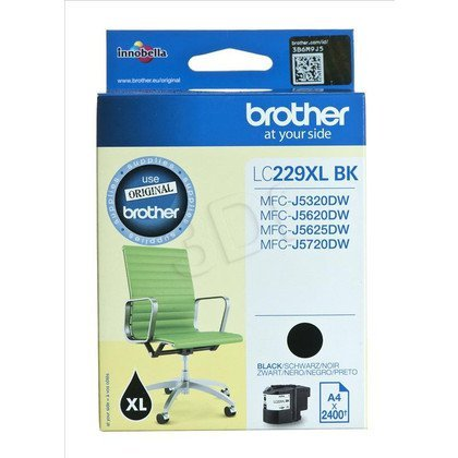 BROTHER Tusz Czarny LC229XLBK=LC-229XLBK, 2400 str.