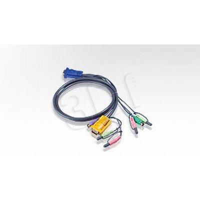 ATEN 2L-5302P Kabel HD15 - SVGA + myszPS + klawPS + Audio 1.8m