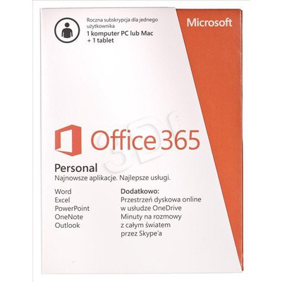 MS Office 365 Personal 32-bit/x64 Polish Subscr 1YR