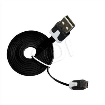 MSONIC KABEL MICRO USB 2.0 A-B M/M 1M, PŁASKI DESIGN, MLU527NK CZARNY