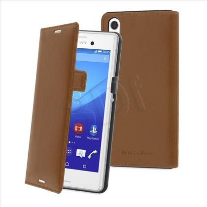 MUVIT COVER FOR SONY XPERIA M4 AQUA SLIM LUX BROWN