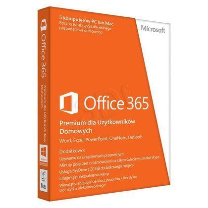 MS Office 365 Home Premium 32/64bit PL Subs 1YR MLK