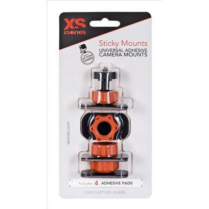 AKCESORIA GOPRO XSORIES STICKY MOUNTS BLACK/ORANGE