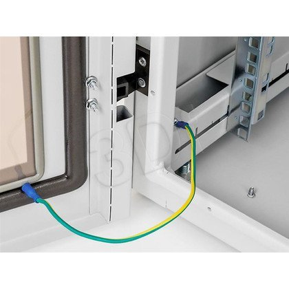 """Triton Szafa rack 19"""" stojąca RIE-27-A61-CCX-A1 (27U, 600x1000mm, przeszklone drzwi, kolor jasnoszary RAL7035 , klasa szczelności IP54)"""