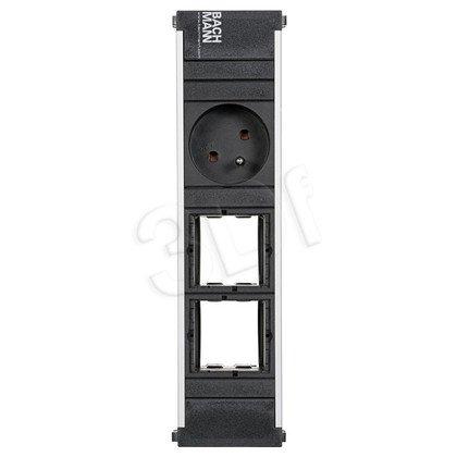 Bachmann 912.009 CONI - listwa zasilająca do krótkich kaset 1x gn. zasilające, 2xwolne miejsce.