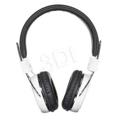 Słuchawki nauszne z mikrofonem ART AP-B02-W (Biało-czarne Bluetooth)