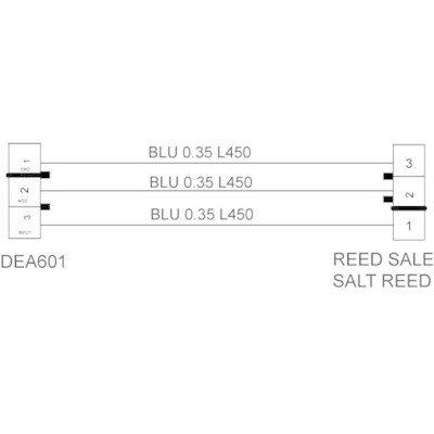 Okablowanie DEA601 kontrolka poziomu soli-moduł (C00256982)