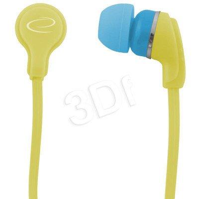 Słuchawki douszne Esperanza NEON EH147Y (Żółty)