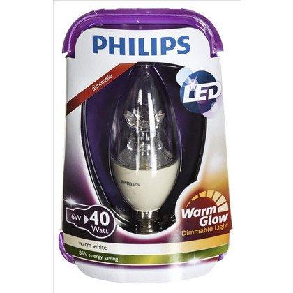 Philips żarówka LED 8718696453483 (świeczka 470lm 6W E14 ciepła biel)