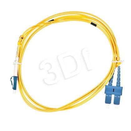 ALANTEC patchcord światłowodowy SM LSOH 2m LC-SC duplex 9/125 żółty