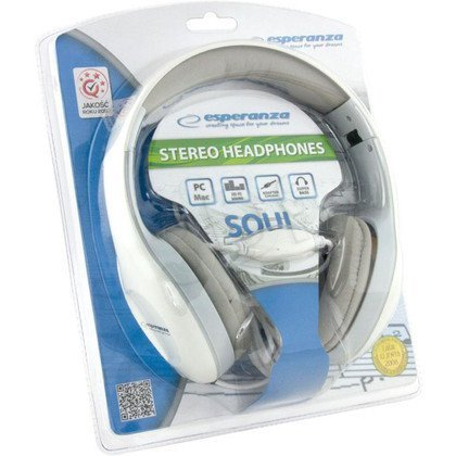 Słuchawki nauszne Esperanza SOUL (Biały)