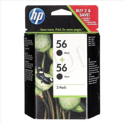 HP Tusz Czarny HP56*2=C9502AE, 2xBk, 2xC6656AE, 2x450 str./2x19 ml