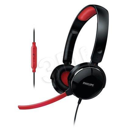 Słuchawki PHILIPS SHG7210/10 /Czarno- czerwone