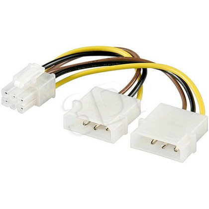 AKYGA ADAPTER 2X MOLEX / PCI-EXPRESS 6-PIN AK-CA-13