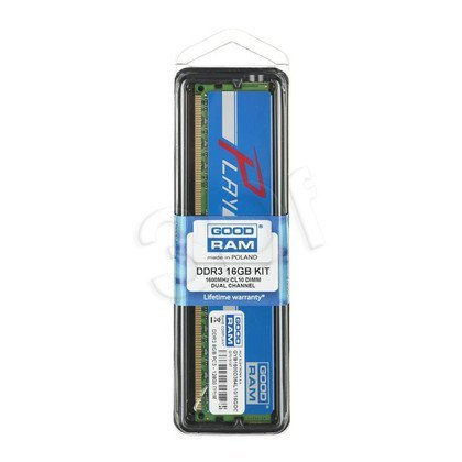 GOODRAM DDR3 PLAY 16GB PC1600 2x8GB BLUE CL10