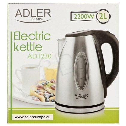 Czajnik elektryczny Adler AD 1230 (2l 2000W Inox-czarny)