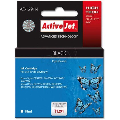 ActiveJet AE-1291N (AE-1291) tusz Black pasuje do drukarki Epson (zamiennik T1291)