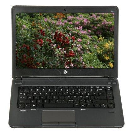 """HP ProBook 640 G1 i5-4200M 4GB 14"""" HD+ 128GB HD4600 3G Win7P Win8.1P Czarno-srebrny H5G69EA 1Y"""