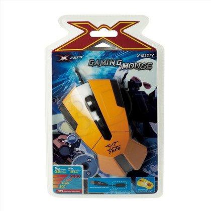 X-ZERO MYSZ GAMINGOWA PRZEWODOWA, OPTYCZNA, 6D, 2400DPI, WIELOFUNKCYJNE KLAWISZE X-M331Y ŻÓŁTA