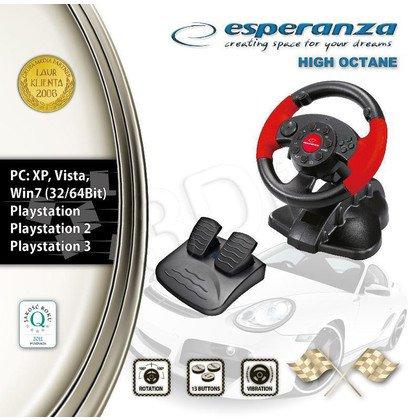 KIEROWNICA ESPERANZA Z WIBRACJAMI EG103 PC/PS2/PS3