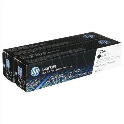 HP Toner HP126Ax2=CE310AD, Zestaw 2xBk, 2xCE310A