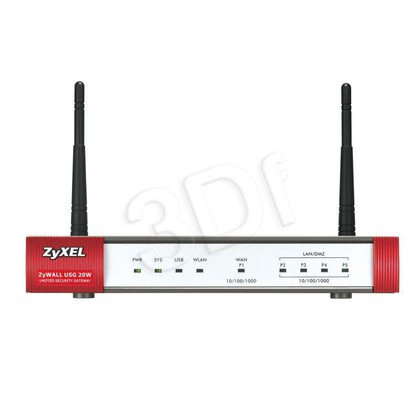 ZyWALL USG 20W Firewall + 5 VPN 5xGbps 3G USB Wi-Fi
