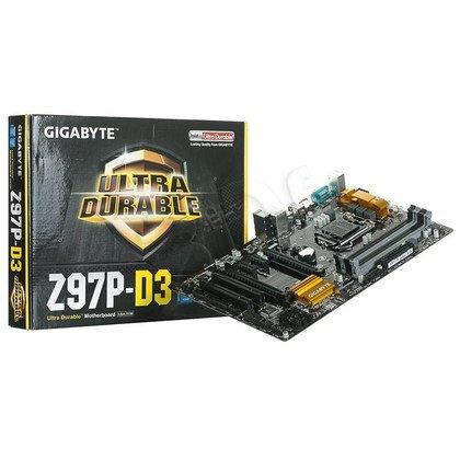 GIGABYTE GA-Z97P-D3 Z97 LGA1150 (PCX/DZW/VGA/GLAN/SATA3/USB3/RAID/DDR3/CROSSFIRE)