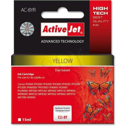 ActiveJet AC-8YR (ACR-8Y) tusz yellow do drukarki Canon (zamiennik Canon CLI-8Y) (chip)