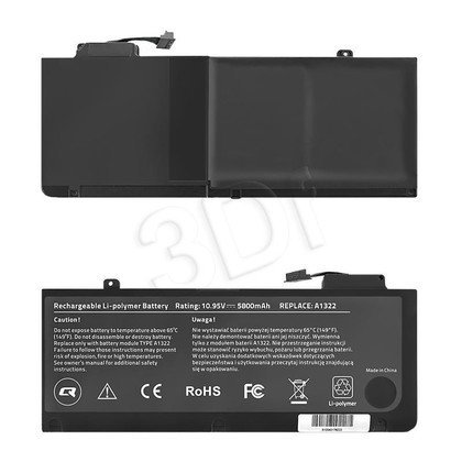 QOLTEC BATERIA DO APPLE MACBOOK PRO 13"