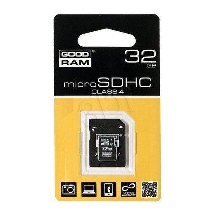 SECURE DIGITAL MICRO 32GB GOODRAM + adapter