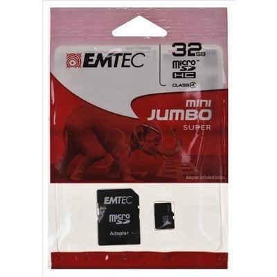 Emtec micro SDHC Mini Jumbo super 32GB Class 4 + ADAPTER microSD-SD