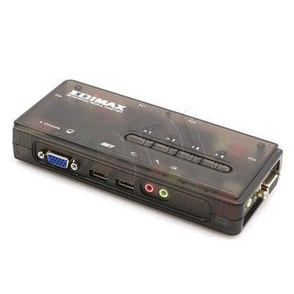 EDIMAX (EK-UAK4) PRZEŁĄCZNIK KVM 4xUSB, AUDIO+MIC, 4 x 1.8M kabel kvm