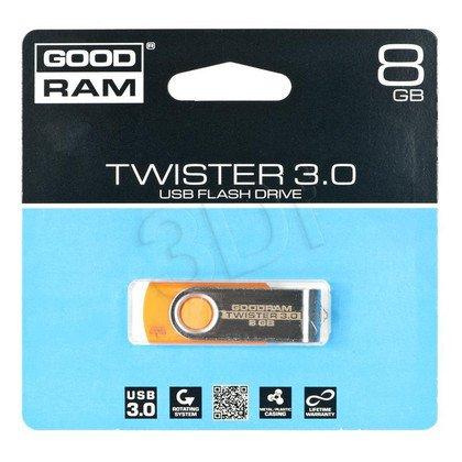 Goodram Flashdrive TWISTER 8GB USB 3.0 Pomarańczowy