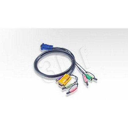 ATEN 2L-5305U Kabel HD15 - SVGA + mysz + klawUSB + Audio 5.