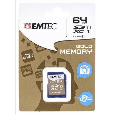 Emtec SDXC ECMSD64GXC10 64GB Class 10,UHS Class U1