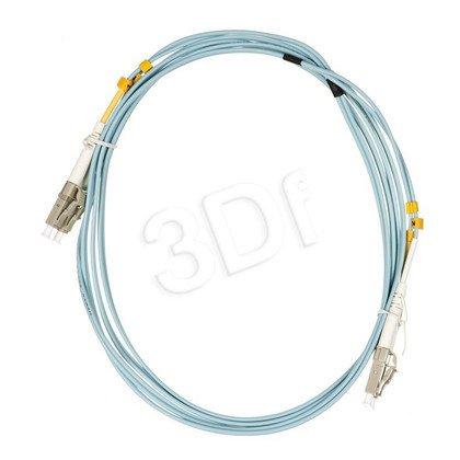 ALANTEC patchcord światłowodowy MM LSOH 2m OM3 LC-LC duplex 50/125 turkusowy
