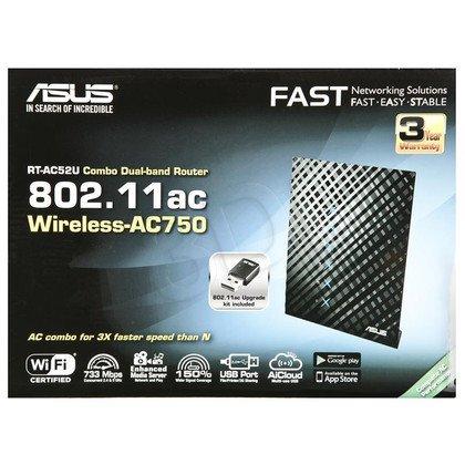 Asus RT-AC52U - Dwupasmowy router bezprzewodowy AC750 do korzystania w domu i chmurze