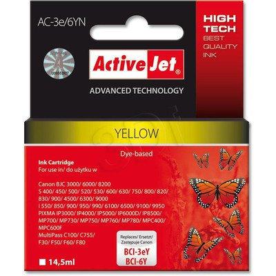 ActiveJet AC-3e/6YN (AC-3e/6Y) tusz yellow do drukarki Canon (zamiennik BCI-3eY, BCI-6Y)