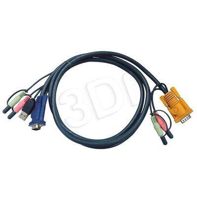 ATEN 2L-5302U Kabel HD15 - SVGA + mysz + klawUSB + Audio 1.