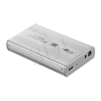 """OBUDOWA NA DYSK 3.5"""" SATA USB AK-88 SREBNA"""
