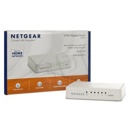 NETGEAR GS205-100PES Switch 5-port Gigabit Ethernet