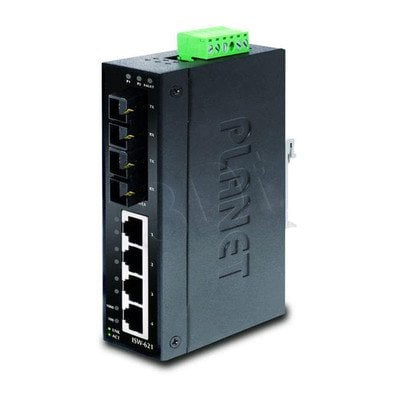 PLANET ISW-621S15 Przemsyłowy Switch 4+2 100FX Port