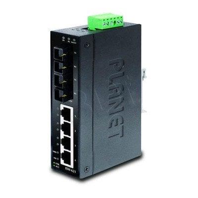 PLANET ISW-621S15 Przemsyłowy Switch 4+2 100FX Port