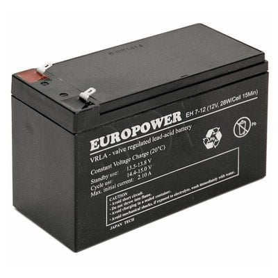 Akumulator EVER Do Ups - Europower 12V 7Ah EP 7-12