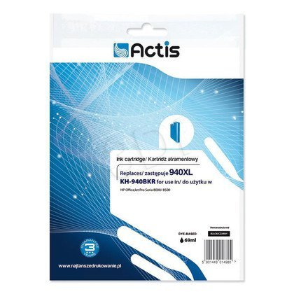 Actis KH-940BKR tusz czarny do drukarki HP (zamiennik HP 940XL C4906AE) Standard