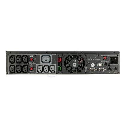 UPS CYBERPOWER PR3000ELCDRT2U (VI, Rack/Tower, 3000VA, 2700W, 10xIEC (8x Backup), FL3min/HL8min, możliwość podłączenia dodatkowych modułów bateryjnych