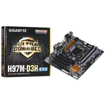 GIGABYTE GA-H97M-D3H H97 LGA1150 mATX (PCX/DZW/VGA/GLAN/SATA3/USB3/RAID/DDR3/CROSSFIRE)