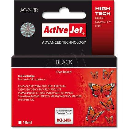 ActiveJet AC-24BR (ACR-24Bk) tusz czarny do drukarki Canon (zamiennik Canon BCI-24BK)