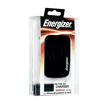 Energizer Powerbank XP6000A 6000mAh lightning,USB czarny